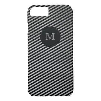 Silver and black striped Phone case
