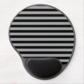 Silver and Black Stripes Gel Mousepad