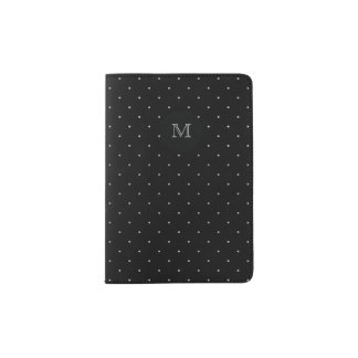Silver and black Tiny Polka Dot Passport Holder