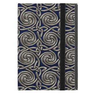 Silver And Blue Celtic Spiral Knots Pattern Case For iPad Mini