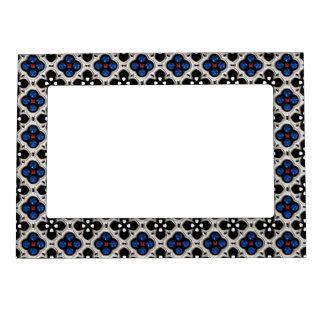 Silver and Blue Holiday Bling Magnetic Frame