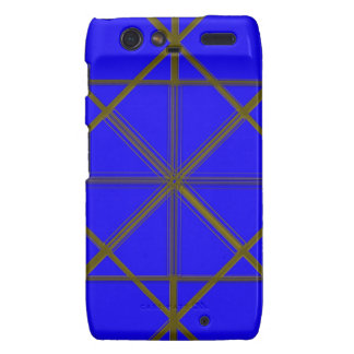 Silver and Blue Wire Pattern Motorola Droid RAZR Covers
