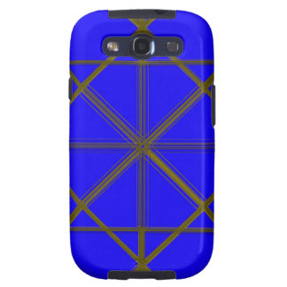 Silver and Blue Wire Pattern Samsung Galaxy SIII Cover