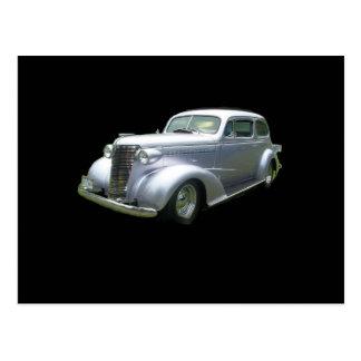 Silver and Chrome 1940 antique classic auto Postcard