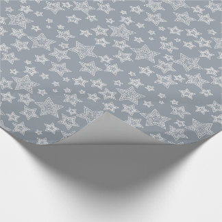 Silver and Glitter Wrapping Paper