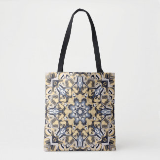 Silver And Gold Abstract Tote Bag