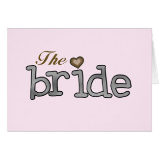 Silver and Gold Bride T-shirts and Gifts Greeting Card