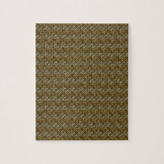 Silver and Gold Chevron Dots Jigsaw Puzzle
