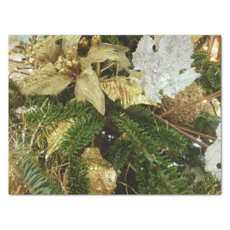 Silver and Gold Christmas Tree II Holiday Tissue Paper