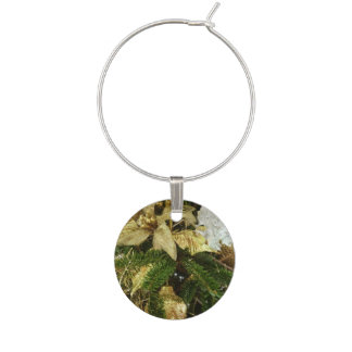 Silver and Gold Christmas Tree II Holiday Wine Charm