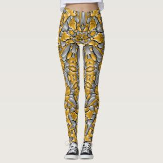 Silver And Gold Custom Leggings