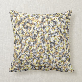 Silver and Gold Pebbles Cushion