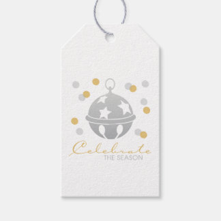 Silver and Gold Sleigh Bell Holiday Gift Tags