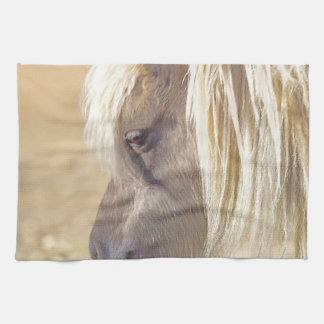 Silver and Grey Kitchen Towel Western Horse