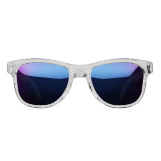 Silver and grey triangles pattern sunglasses