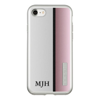 Silver and Mauve Monogram Incipio DualPro Shine iPhone 8/7 Case