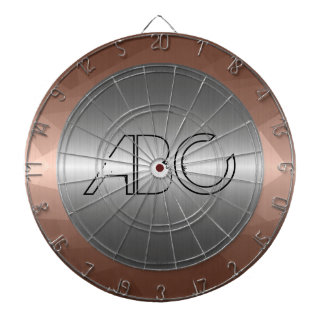 Silver and Mosaic Bronze Stainless Steel Metal Dartboard