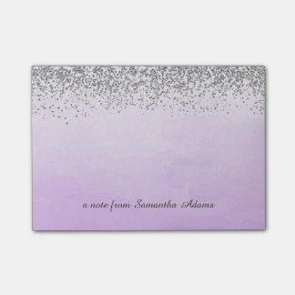 Silver and Ombre Purple Notes