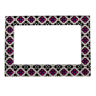 Silver and Pink Holiday Bling Magnetic Picture Frame