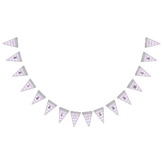 Silver and Purple Bridal Shower Banner