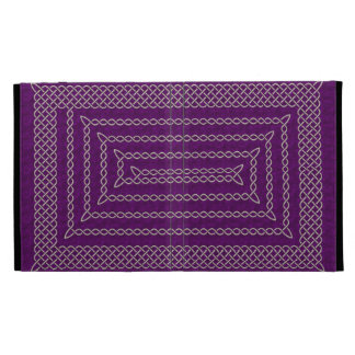 Silver And Purple Celtic Rectangular Spiral iPad Cases
