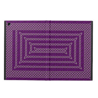 Silver And Purple Celtic Rectangular Spiral Case For iPad Air