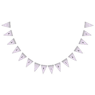 Silver and Purple Happy Birthday Banner