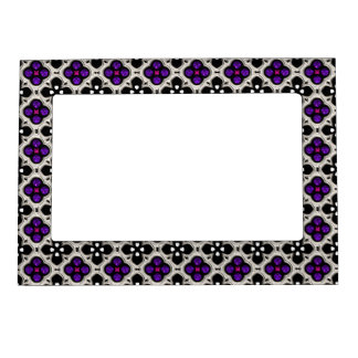 Silver and Purple Holiday Bling Magnetic Picture Frame