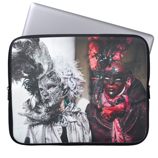 Silver and red carnival masks in Venice(Italy) Laptop Sleeve