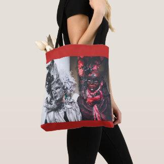 Silver and red carnival masks in Venice(Italy) Tote Bag