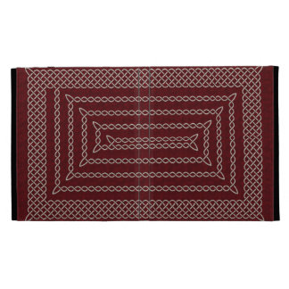 Silver And Red Celtic Rectangular Spiral iPad Folio Cases