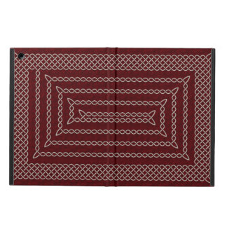 Silver And Red Celtic Rectangular Spiral iPad Air Covers