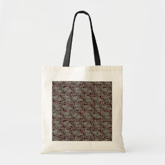 Silver And Red Celtic Spiral Knots Pattern Tote Bag