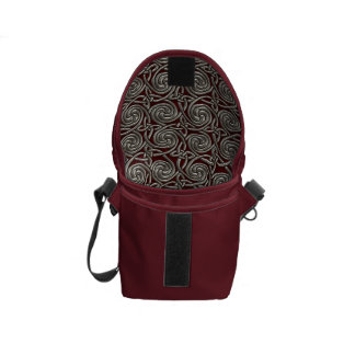 Silver And Red Celtic Spiral Knots Pattern Courier Bags