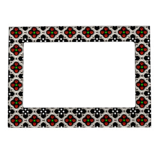 Silver and Red Holiday Bling Magnetic Picture Frame