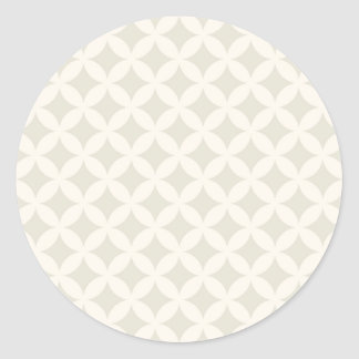 Silver and Tan Geocircle Design Classic Round Sticker