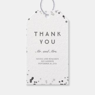 Silver and White Confetti Elegant Wedding