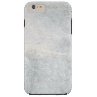 Silver and White Marble Texture Tough iPhone 6 Plus Case