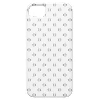 Silver And White Polka Dots iPhone Case