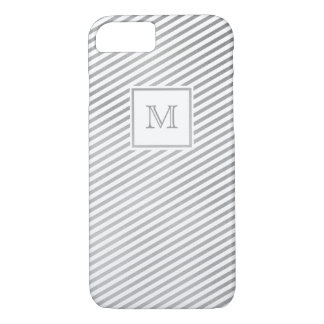 Silver and white striped Phone case