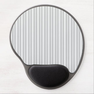 Silver and White Stripes Gel Mouse Mat