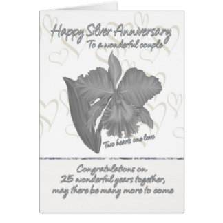 Silver Anniversary Card - 25th Anniversary Card