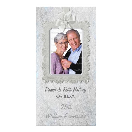 Silver Anniversary Photo Card Template