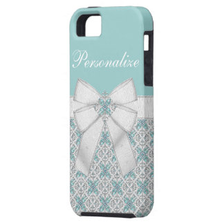 Silver & Aquamarine Jewels Case For The iPhone 5