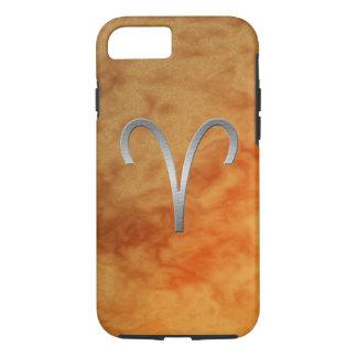 silver aries - orange iPhone 7 case