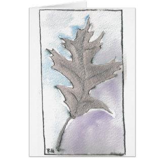Silver Autumn Leaf Card
