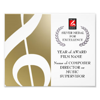 Silver Award Certificate Photo Print