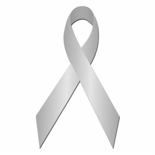 Silver Awareness Ribbon Pin Cut Outs