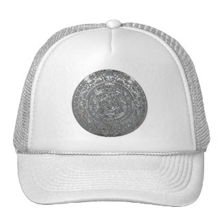 Silver Aztec Calendar Hat