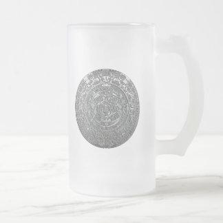 Silver Aztec Calendar Coffee Mug